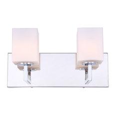 Woodbridge Lighting Candice 2-Light Bath LED, Opal Square Glass