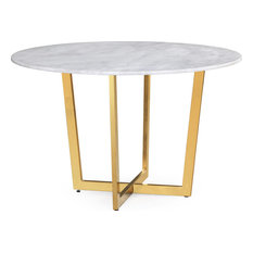Maxim Marble Dining Table, White