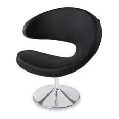 Shell Swivel Occasional Chair, Black