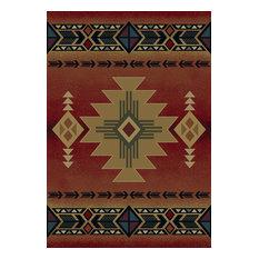 "Southwestern Rugs Crimson Rug, 7' 10""x10' 6"", Genesis Arizona"