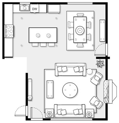Floor Plan by Stephanie Gamble Interiors