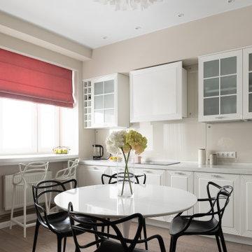Сиреневая акварель, проект квартиры 90 кв.м, реализация 2018 г.