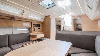 Allestimento interno yacht a vela di 13 metri