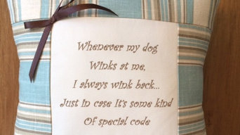 Handmade Decorative Dog Quote Pillows