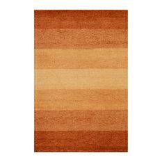 Baku Stripe Terracotta Floor Rug, 180x120 cm