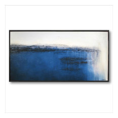 Contemporary Modern Limited Edition Canvas Painting Framed 62 x 32 by ELOISExxx
