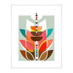 """Modern Topiary I"" Art Print by Linda Ketelhut, 17""x21"""