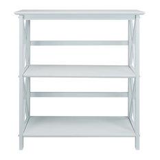 Montego 3-Shelf Bookcase, White