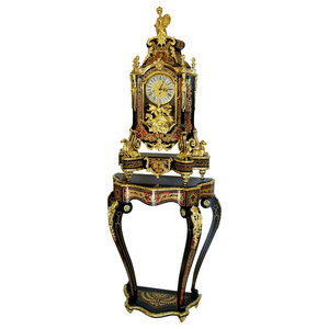Boulle Clock and Console Table