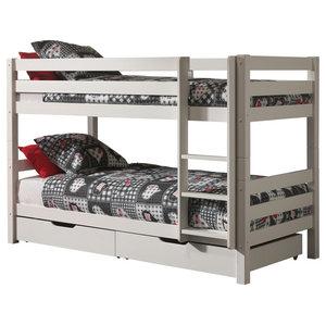 Pino Bunk Bed, White, Euro Double