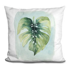 Paradise Palm Leaves I Decorative Accent Throw Pillow