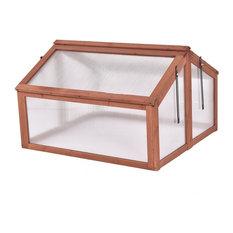 Modern Double Box Garden Wooden Greenhouse