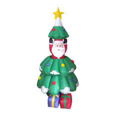 Animated Santa Claus Pop Up from Christmas Tree, 5'