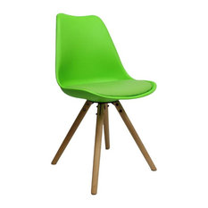 Brandy Plastic Dining Chair, Lime Green