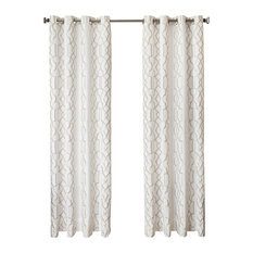 Tarsus Grommet Top Curtains, Champagne, 96""