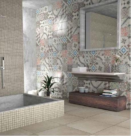 Rivestimenti per bagno e cucina serie cementine - Piastrelle grigie bagno ...