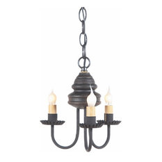 Large Wrought Iron and Punched Tin Bar Island Light, Black