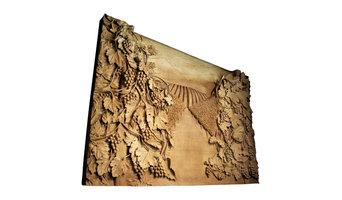 Hand-Carved Vineyard Art Wall Decor