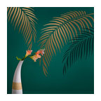 Palm Frond Wall Art Stencil For Home Decor