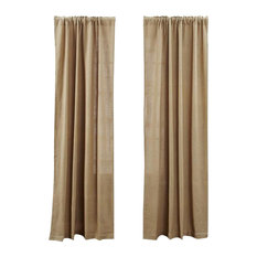 "Curtain Panels, Burlap Natural, 40""x84"", Set of 2"