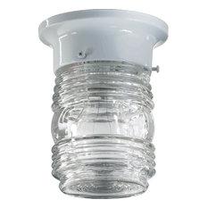 Quorum 3.25 Jelly Jar Flushmount 3009-3-6 - White