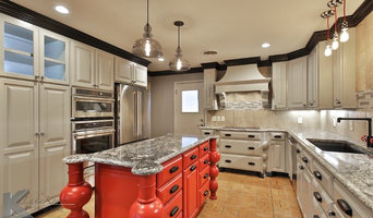Gray & Red Transitional Kitchen