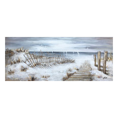 """""""The Walkway"""" Hand Painted Canvas Art, 55""""x27.5"""""""