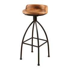 Abbyson Living Felicia Industrial Iron Bar Stool