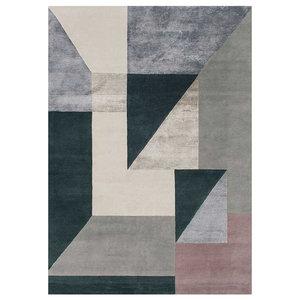 Linie Trisquare Rug, Silver, 200x300 cm