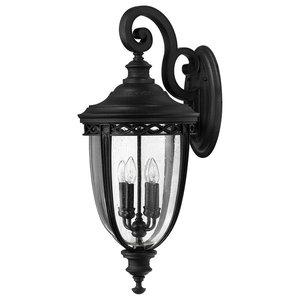 English Bridle 4-Light Outdoor Wall Light, Black
