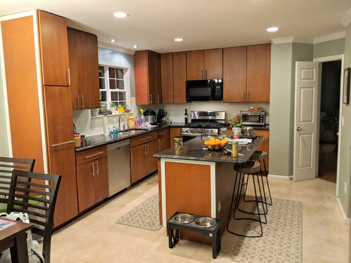 Refinishing Kitchen Cabinet Design Color Help