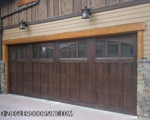 Composite wood garage doors eco series for home builders for Wood composite garage doors
