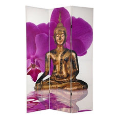 6' Tall Double Sided Thai Buddha Room Divider