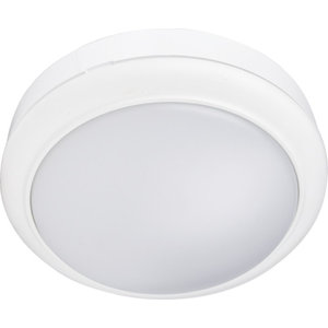 White 15W Flush LED Mini Bulkhead Light Ceiling Wall Bulkhead IP65