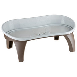 Contemporary Pet Bowls And Feeding by Trademark Global