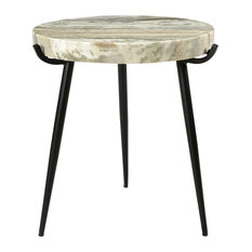 Moes Home Brinley Marble Accent Table