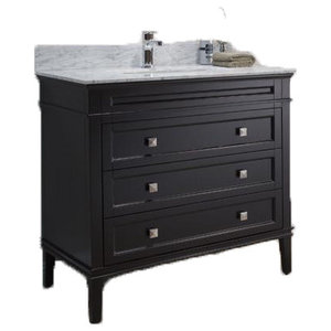 "Bordeaux 36"" Free Standing Single Sink Contemporary Bathroom Vanity Espresso"