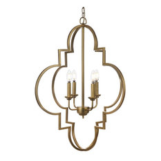 Welford Transitional Gold Chandelier