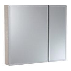 """30""""x26"""" Aluminum Medicine Cabinet, Brushed Nickel"""