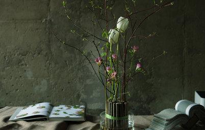 DIY: Оригинальный букет из живых цветов своими руками