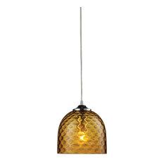 elk lighting viva 1 light amber pendant in satin nickel pendant lighting amber pendant lighting