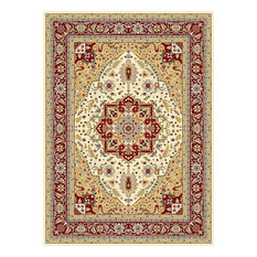 Lyndhurst Area Rug, Rectangle, Ivory-Red, 10'x14'