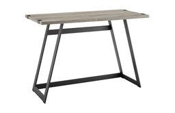42 inch Metal Wrap Grey Wash Writing Desk