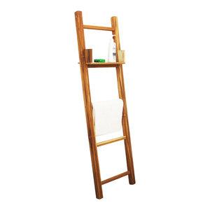 "Haussmann Teak Towel Ladder 18""x64"" With Adjustable Shelf Teak Oil"