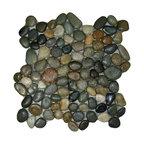 "12""x12"" Glazed Bali Ocean Pebble Tile"