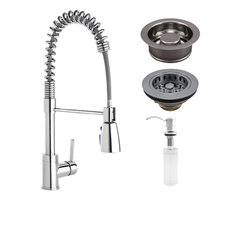 Keeney - Keeney Premium Commercial Style Kitchen Kit, Polished Chrome - Kitchen Faucets