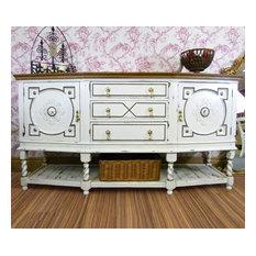 Victorian Jacobean style oak sideboard