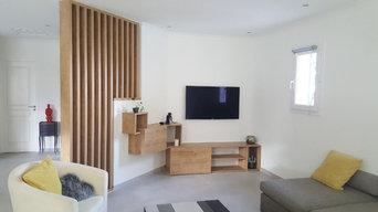 Création d'un meuble TV et claustra