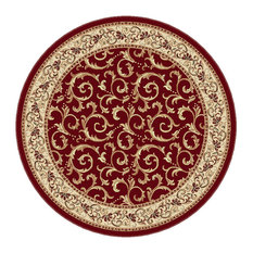 Genial Tayse Rugs   Westminster Transitional Oriental Red Round Area Rug, 8u0027 Round    Area
