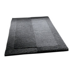 Slate Gray Thick Plush Reversible Cotton Bathroom Rug, Havana, Extra Large  1   Bath